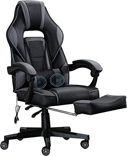 ANJHOME Massage Computer Gaming Chair