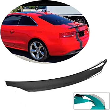 Not for S5 MCARCAR KIT Trunk Spoiler fits Audi A5 B9 Base Sline Coupe 2017-2019 Factory Outlet Carbon Fiber Rear Boot Lid Highkick Duckbill Wing Lip