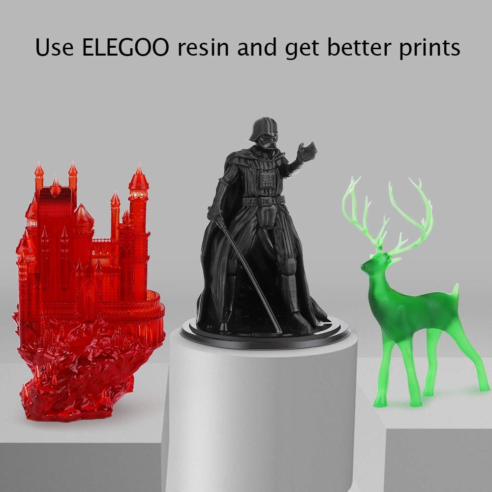 x 2.56in L H Renewed ELEGOO Mars UV Photocuring LCD 3D Printer with 3.5 Smart Touch Color Screen Off-line Print 4.53in W x 5.9in Printing Size Black Version
