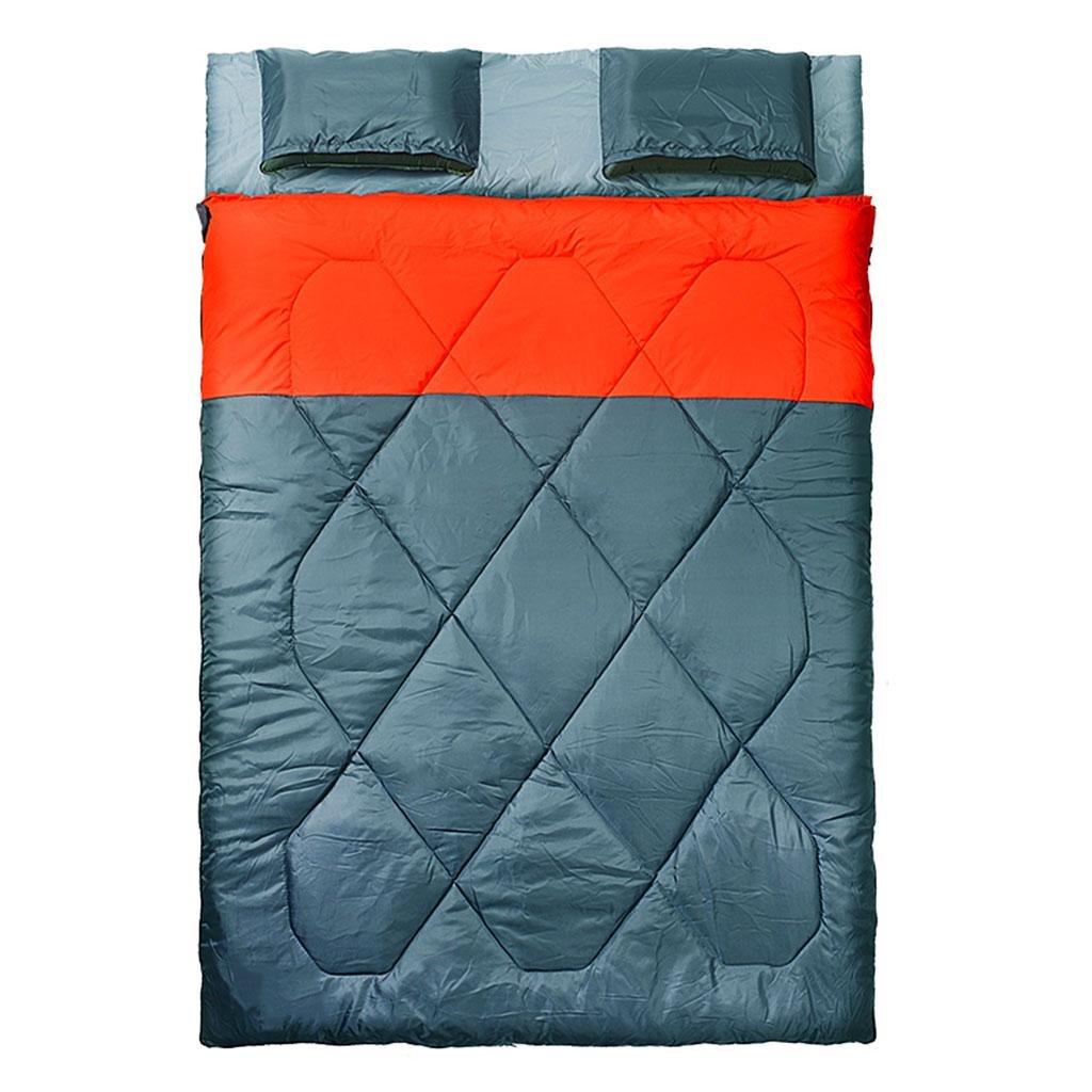 Camping Schlafsack,Schlafsack Outdoor Indoor Umschlag Typ rechteckigen Stil Erwachsener 4 Saison Verdickung Warm Camping Doppelschlaf Sack Outdoor Paar Schlafsack