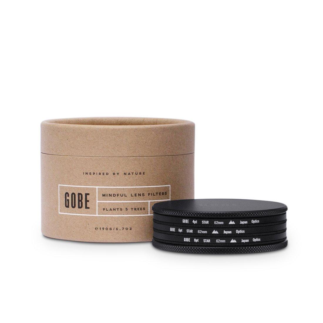 Gobe Star Filter Kit 62mm: 4 Points, 6 Points, 8 Points by Gobe