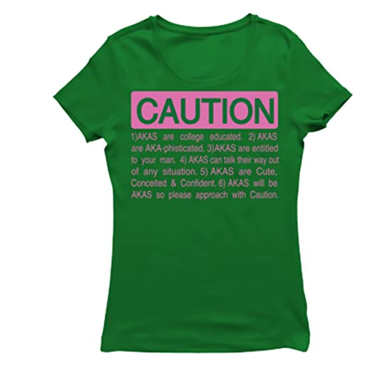 43620bbaf800 ALPHA KAPPA ALPHA CAUTION T-SHIRT at Amazon Women s Clothing store