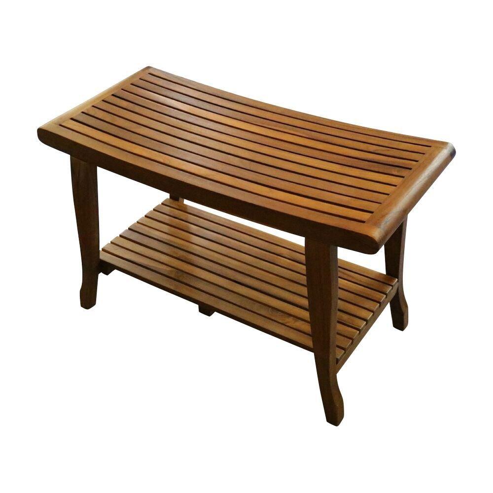 ALATEAK Indoor Outdoor Patio Garden Yard Bath Shower Spa Waterproof Stool Bench 30''