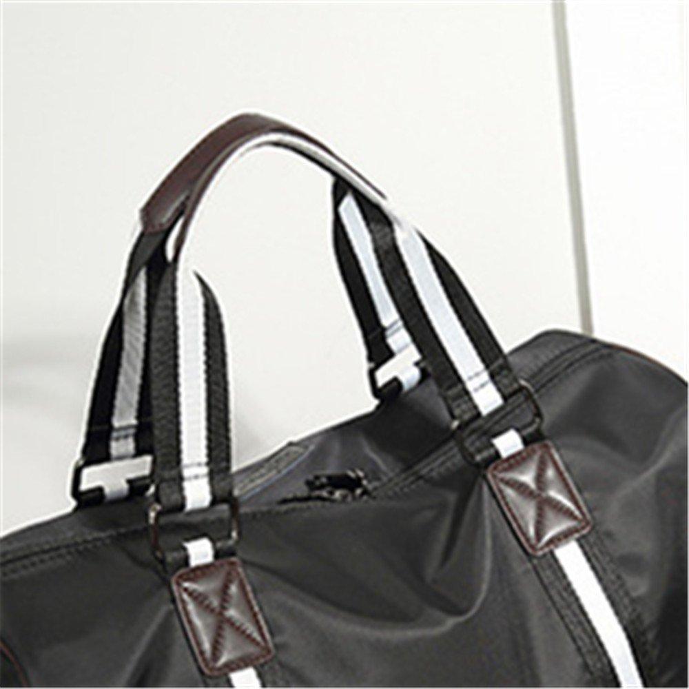 Ybriefbag Unisex Waterproof Oxford Cloth Short Trip Package Handbag Shoulder Bags Ribbon Bag Vacation