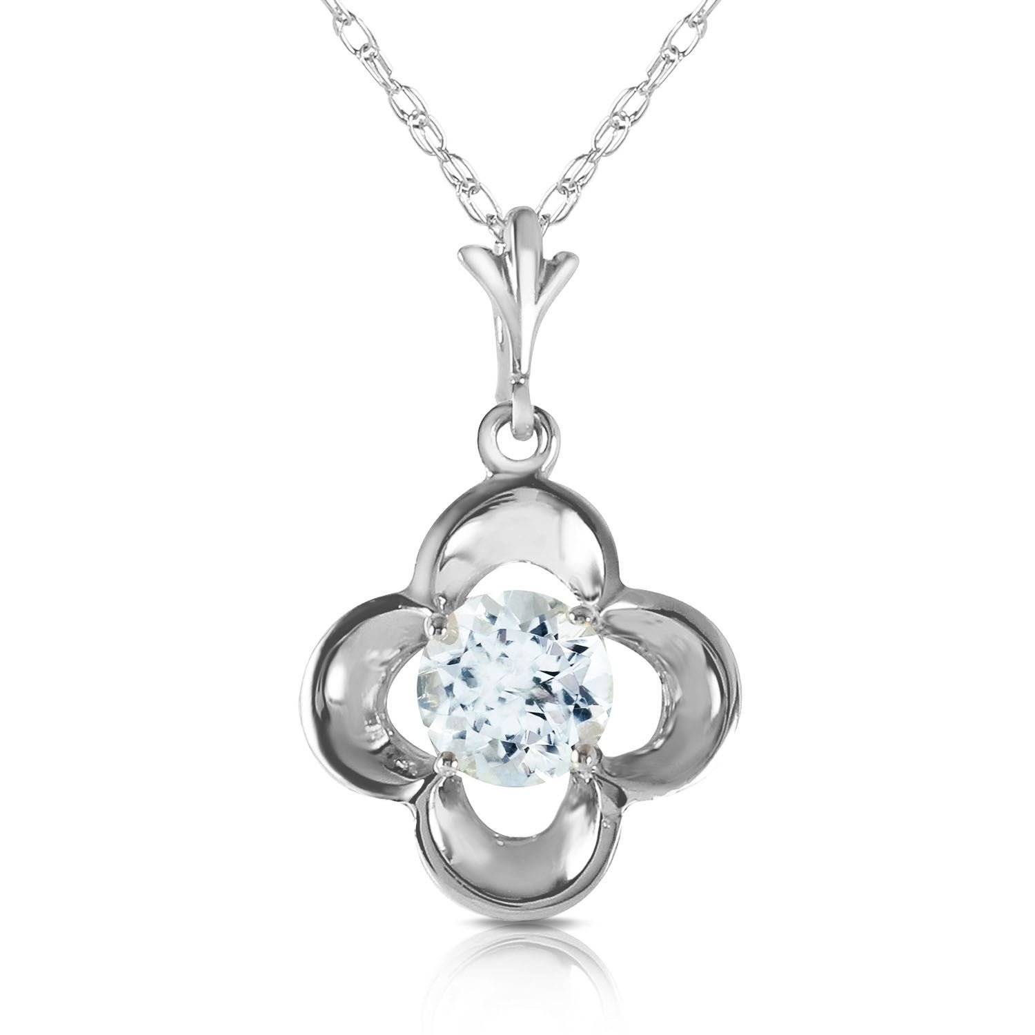 """2.15 Ct Round Cut Blue Solid 14k White Gold Over Solitaire Pendant 18/"""" Necklace"""