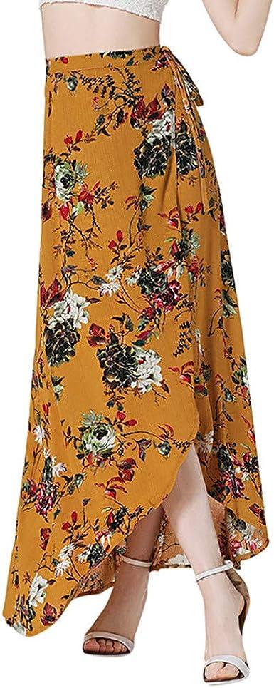 Poachers Falda Larga Mujer Elegante Falda Flamenca Mujer Volantes ...