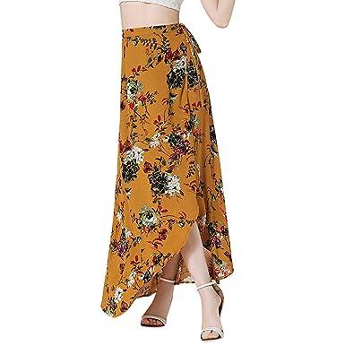 Sylar Faldas Mujer Largas Estampado Vintage Faldas Largas Bohemias ...