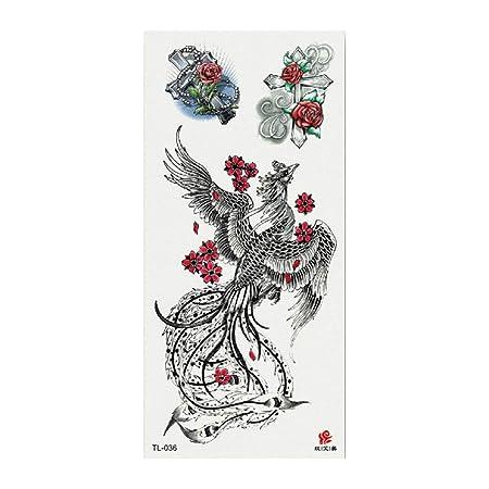 tzxdbh 3Pcs-New 3D Flor Etiqueta engomada del Tatuaje Moda pequeña ...