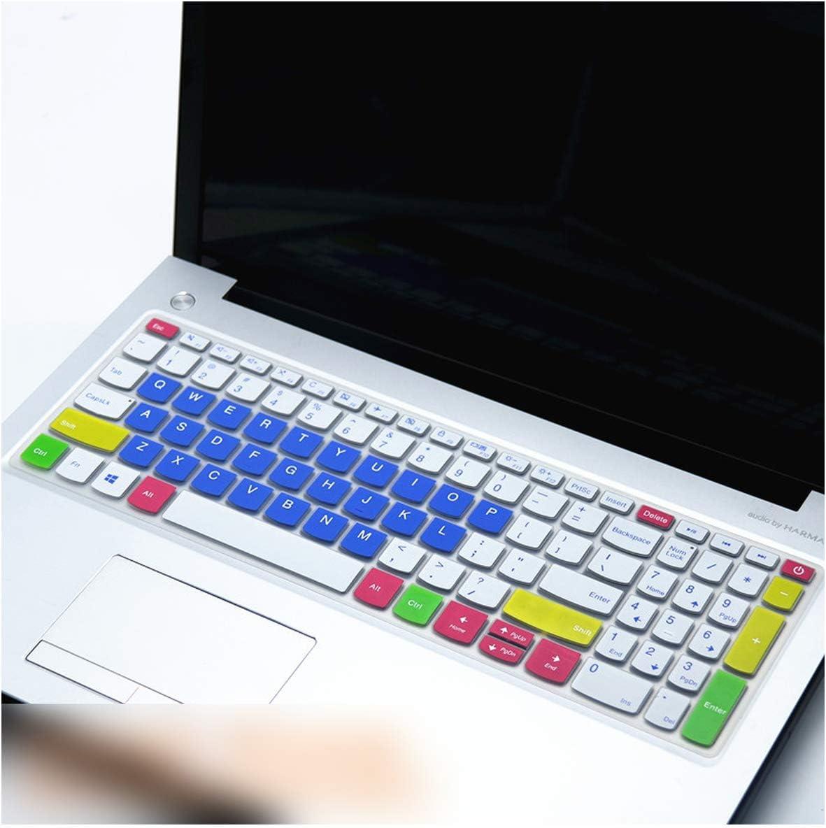 15 Zoll 38,1 cm Laptop Tastatur Abdeckung f/ür Lenovo Ideapad 330s 330S 15IKB 15IKB 320C 330C V330 15IKB V130 V730 V730 15 Flex5 15 one Size Wei/ß//Blau