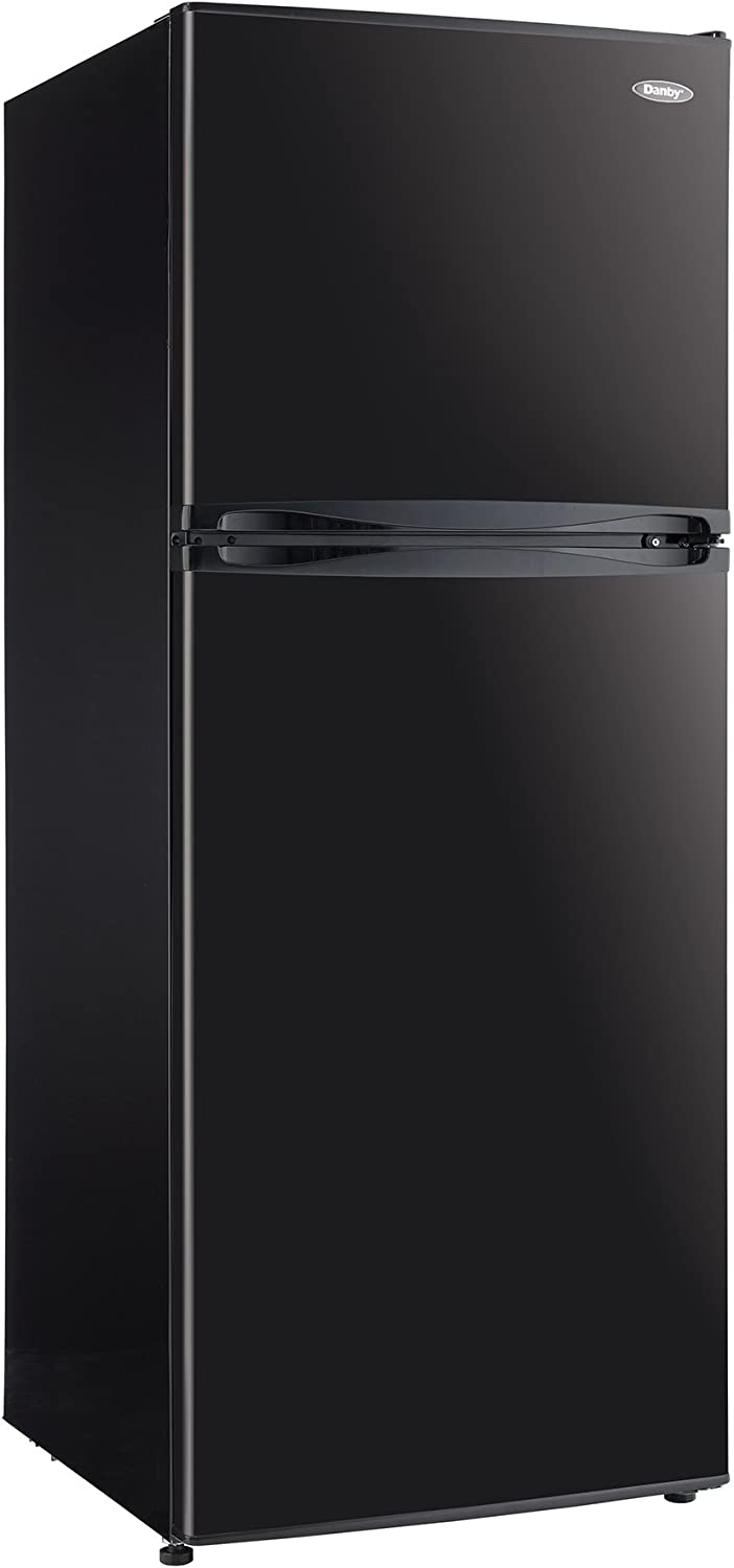 Danby DFF100C1BDB 10.0 cu.ft. Two Door Apartment Size Refrigerator, Black