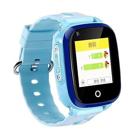 Reloj Inteligente a Prueba de Agua para Estudiantes de niños, G-P-S Tracker SOS Detector de