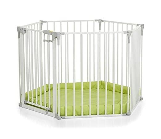 34 opinioni per Hauck Baby Park Barriera Modulare per Bambini, Composta da 6 Elementi, Bianco