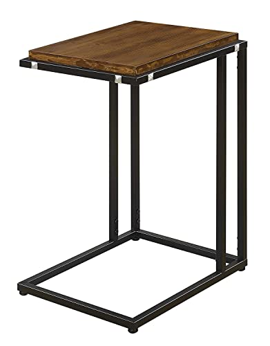Convenience Concepts Nordic C End Table, Dark Walnut