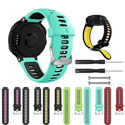 Tabcover for Forerunner 735XT Correa,(6 Colors) Correa de Silicona Soft Sport Replacement Strap Compatible for Garmin Forerunner 735XT/235/220/230/620/630 Smart Watch: Amazon.es: Electrónica