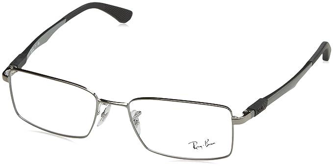 9abe2c62be Ray-Ban 0Rx6275 Monturas de gafas, Gunmetal, 54 para Hombre: Amazon ...