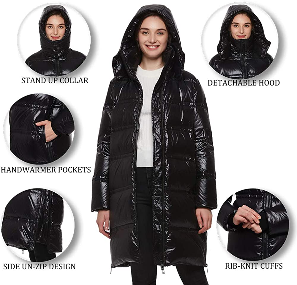 Universo Womens Waterproof Windproof Outdoor Hooded Warm Winter Snow Thickened Down Puffer Parka Jackets