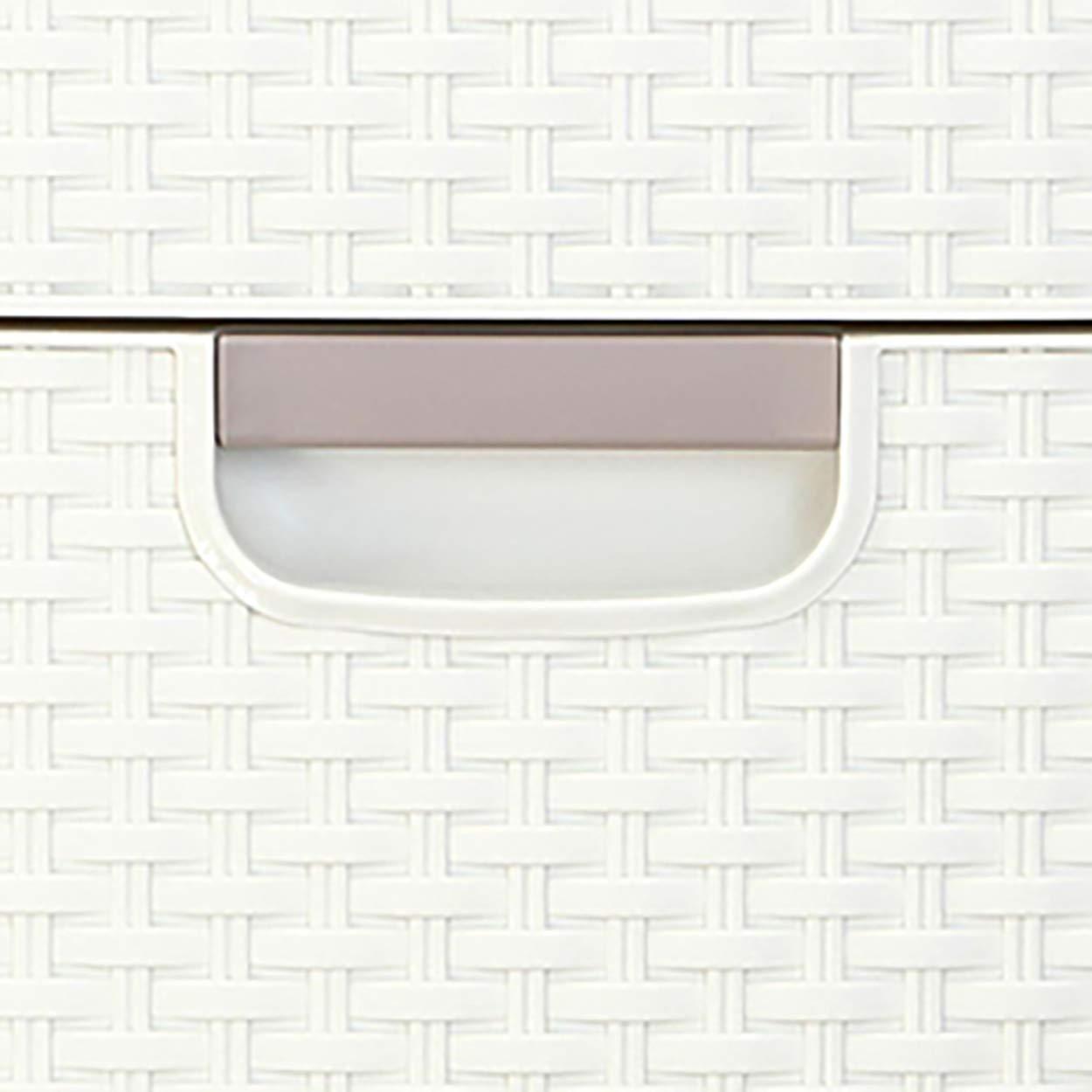 Curver - Cajonera Style de 3 Cajones 14L, Patas, Color Blanco
