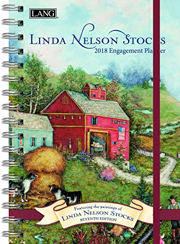 "LANG - 2018 Spiral Engagement Planner - ""Linda Nelson Stocks"" - Artwork By Linda Nelson Stocks - 12 Month by Week or Month - 6.25"" x 9"""
