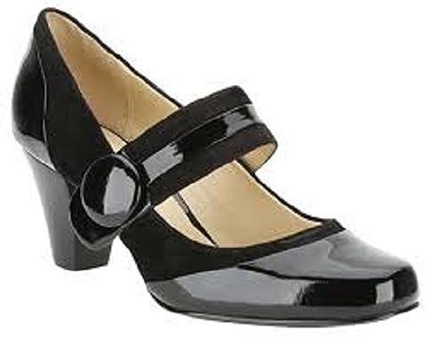 Womens Clarks Alpine Clover Black Patent Combi Dress Smart