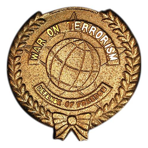 Global War on Terror Grave Marker - In Bronze Finished Brass - FG-FLGFACC1000026446