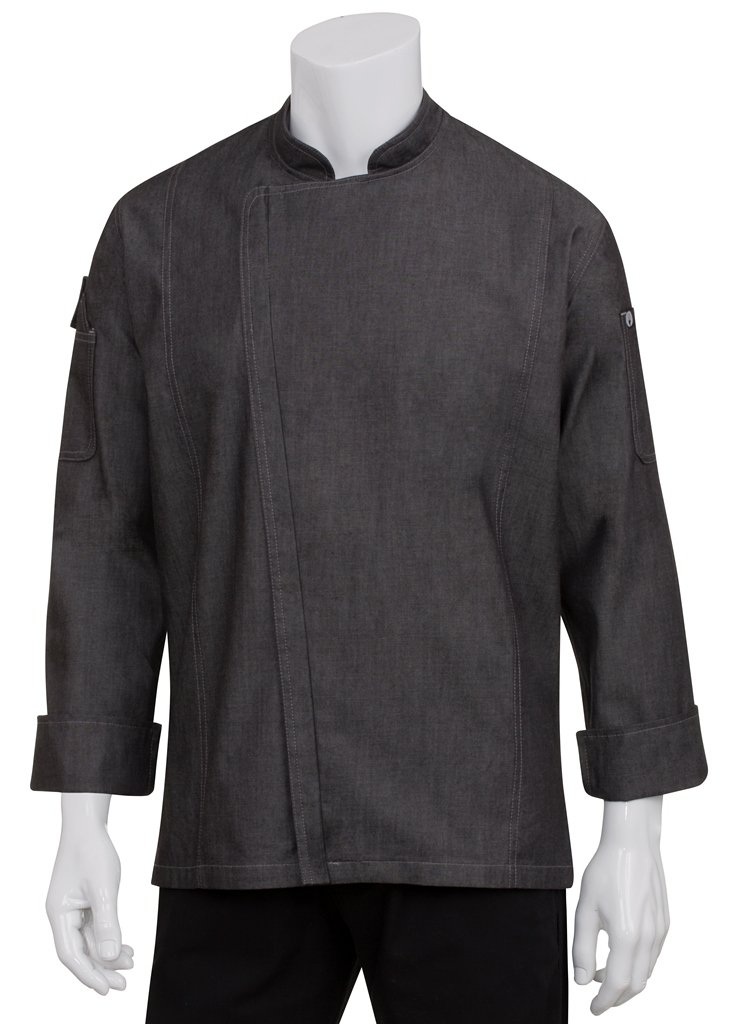 Chef Works Men's Gramercy Denim Chef Coat (EXDZ001) by Chef Works