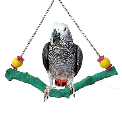 Colorful Swing Juguete para el Pájaro Loro Guacamayo africana ...
