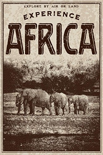 Vintage Victorian Style Experience Africa Advertisement Art Print Poster 24x36 inch