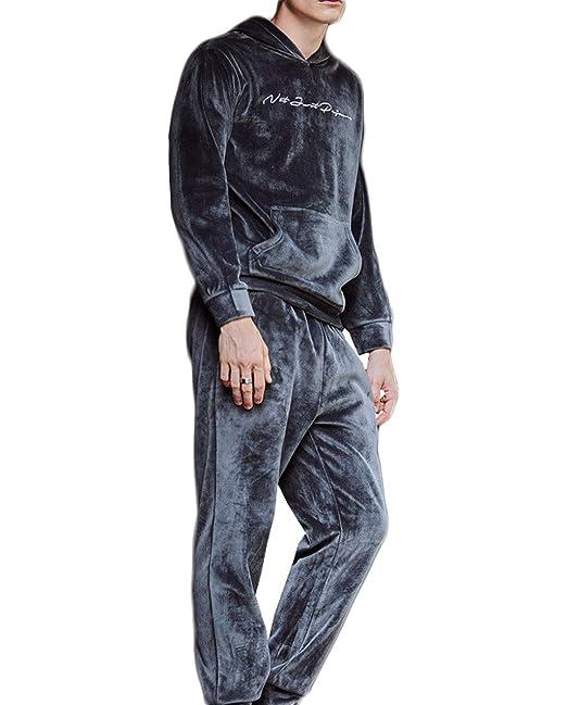 Pijamas de otoño e Invierno de los Hombres Traje de Polar de ...