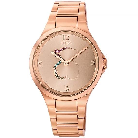 Reloj tous 700350210 Motion de acero IP rosado con cristales de colores: Amazon.es: Relojes