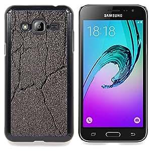 Stuss Case / Funda Carcasa protectora - Agrietado camino Coche Conducir Gris - Samsung Galaxy J3 GSM-J300