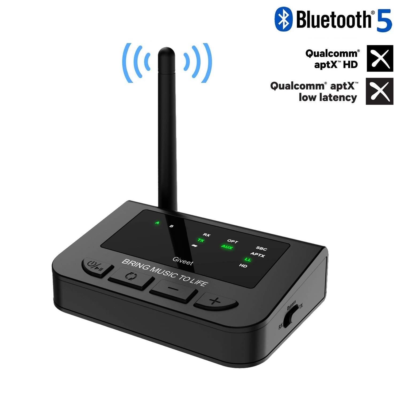 Transmisor Receptor Bluetooth GIVEET Aptx Optica BTI-042-Bla