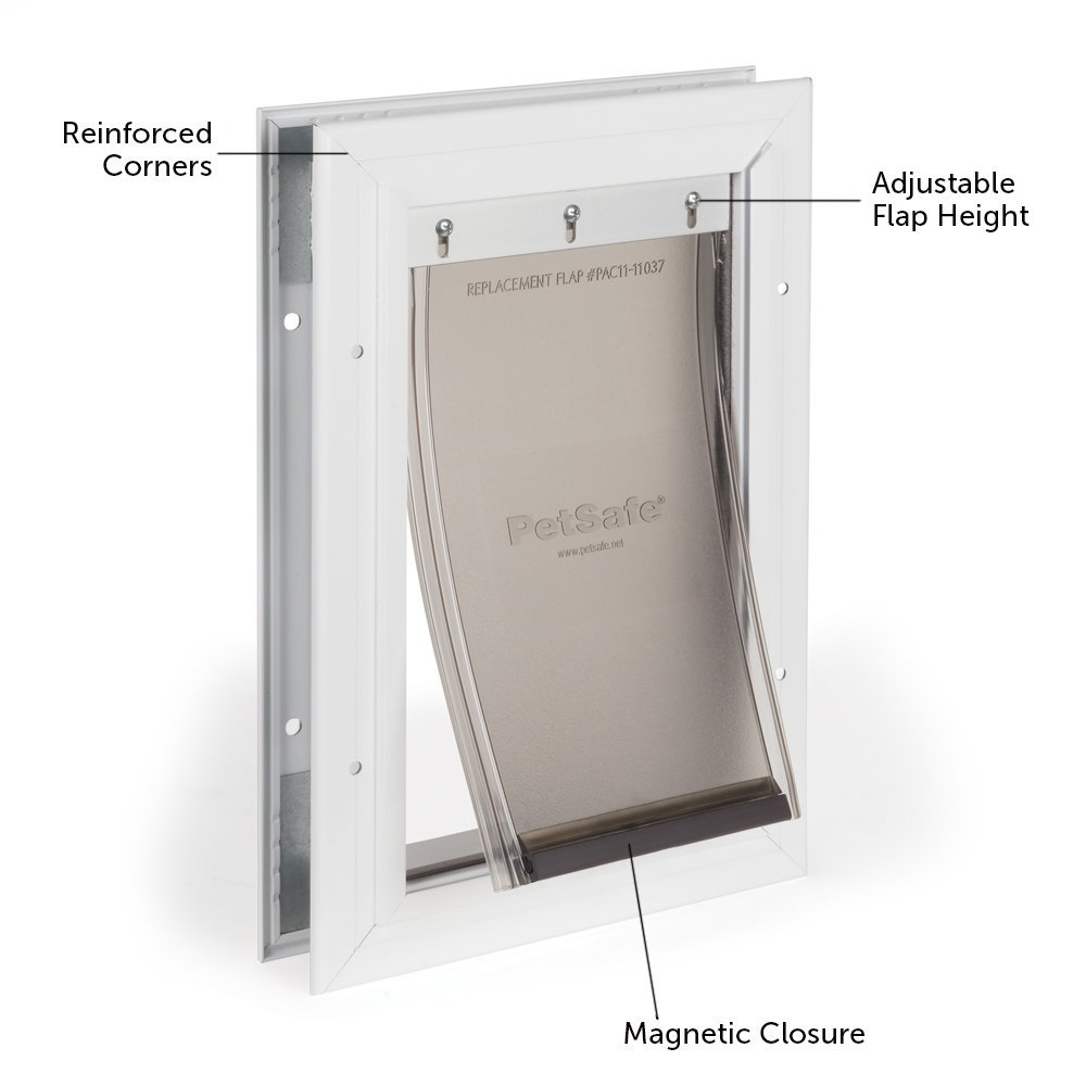 PetSafe Freedom Aluminum Pet Door for Dogs and Cats, Small, White, Tinted Vinyl Flap by PetSafe (Image #2)