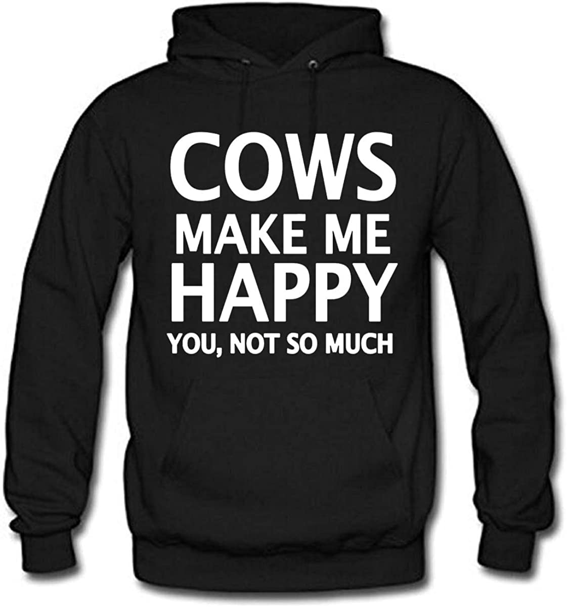 shaoming Cows Make ME Happy You,NOT SO Much Womens Long Sleeve Cotton Hoodie