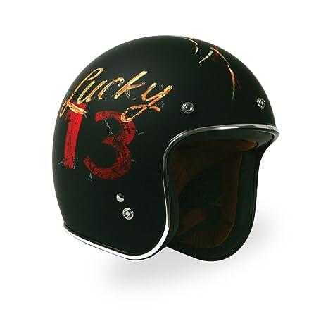 Amazon.com: Torc (T50 de la ruta 66) 3/4 casco con Lucky 13 ...