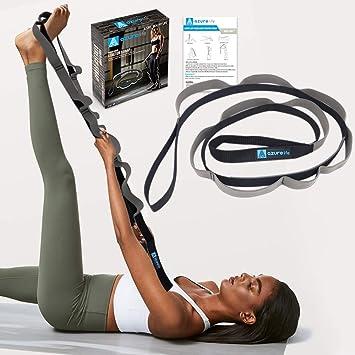Amazon.com: A AZURELIFE - Correa de yoga multibucle, ligera ...