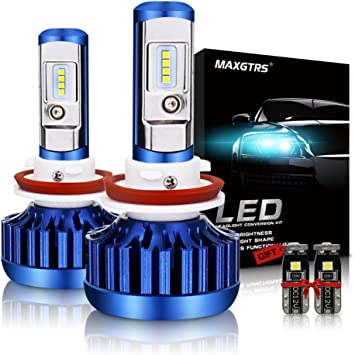2 Year Warranty F-16 Series 6000K White 2 Pcs of LED Conversion Kits Replacement Fog Lights Headlights Halogen Bulbs Auxbeam LED 9005 HB3 Headlight Bulbs build in Turbo Fan