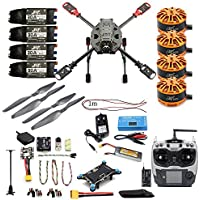 DIY 2.4GHz 4-Axis Drone Quadcopter RC Drone 630mm Carbon Fiber Frame Kit MINI PIX+GPS Brushless Motor ESC Altitude Hold Kit (ARF with Radiolink TX)