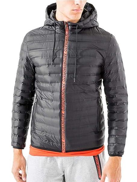 nuovo di zecca e876f a5783 Antony Morato Giubbotto Piumino Black: Amazon.it: Abbigliamento