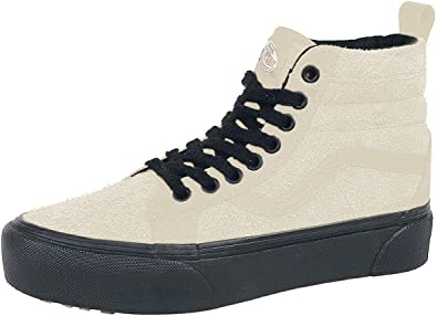 amazon com vans ua sk8 hi platform mte mte moonbeam black men s 3 5 women s 5 medium fashion sneakers vans unisex sk8 hi platform mte suede trainers