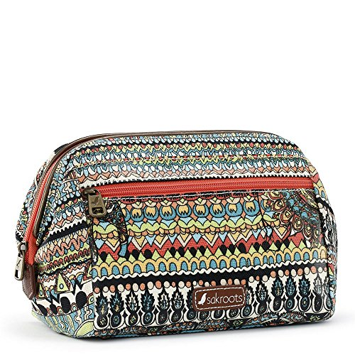 Sakroots Women's Artist Circle Carryall Cosmetic, Natural One - World Cosmetics
