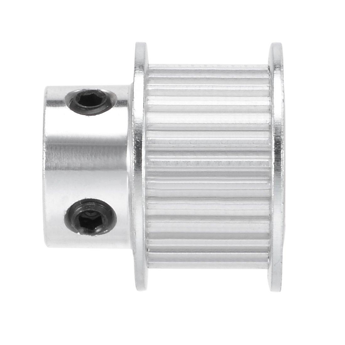uxcell Aluminum MXL 25 Teeth 7mm Bore Timing Belt Idler Pulley Flange Synchronous Wheel for 10mm Belt 3D Printer CNC