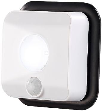 PEARL Treppen Beleuchtung: Batterie-LED-Wandleuchte, Licht- & Bewegungsmelder, 110 lm, 160 Tage (Wandleuchte batteriebetriebe