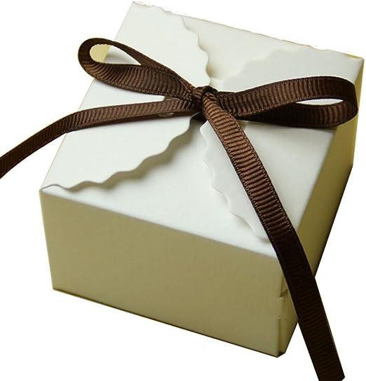 50pcs Bolsos de Caramelo Cajas de Regalo Papel Kraft Decoración ...