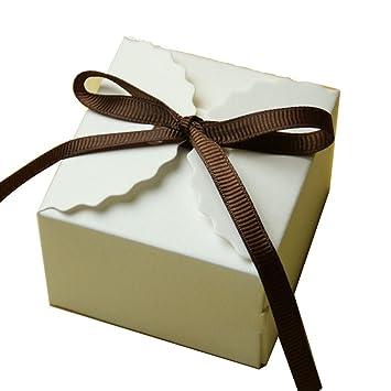 50pcs Bolsos de Caramelo Cajas de Regalo Papel Kraft Decoración Favor Partido Ducha de Bebé Boda: Amazon.es: Hogar