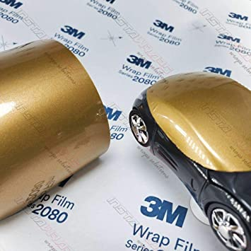 5 Sq//ft 5ft x 1ft w//Free-Style-It Pro-Wrapping Glove Vinyl CAR WRAP Film 3M 1080 Gloss White Gold Sparkle GP240