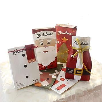 16 unidades Navidad Bolsas de regalo con bolsas de papel ...