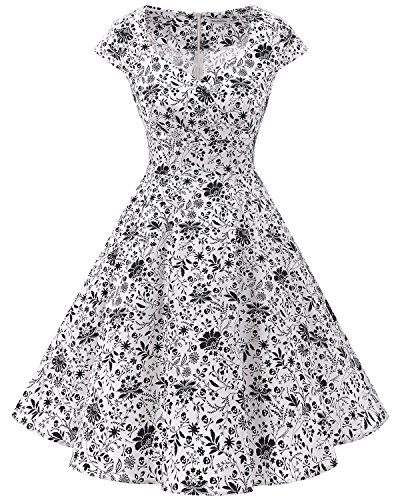 Bbonlinedress Women Short 1950s Retro Vintage Cocktail Party