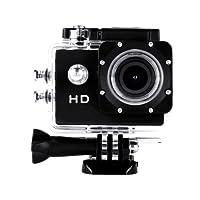 JOYCAM Caméra de Sport action caméra étanche HD 720p Caméscope Action caméra avec grand angle 120 degrés et accessoires avec boitier étanche et adaptateur(Noir)