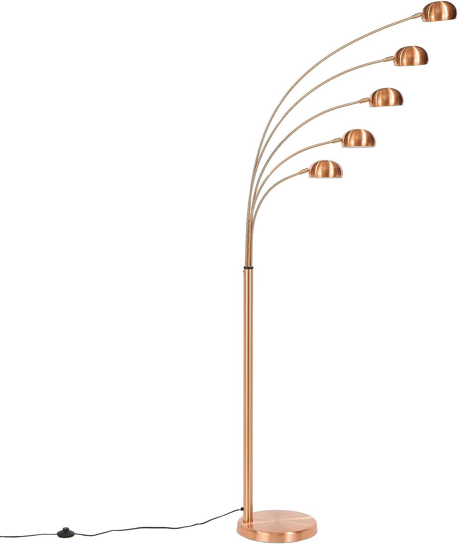 5 Flammig Bogenlampe Five Lights 205cm E14 Kupfer Mit Ummanteltem