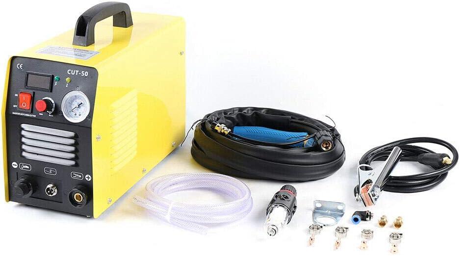 CUT-50 Coupe-plasma /à air comprim/é 220 V avec pince de masse 12 mm Affichage num/érique pour t/ôles vernies et rouille